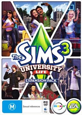 The Sims 3 University Life DLC